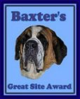 [Baxter's Great Site Award]