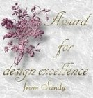 [Sandy's Award for Design Excellence]